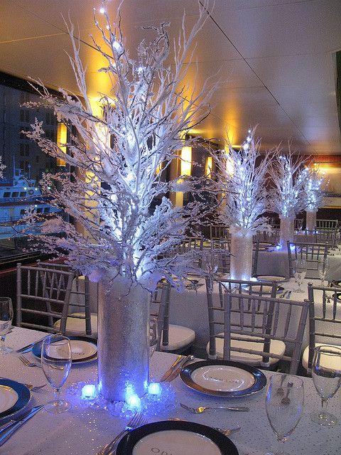 Centros de mesa para 15 años de invierno