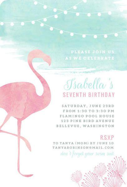 Invitaciones para quinceañera temática de flamingo