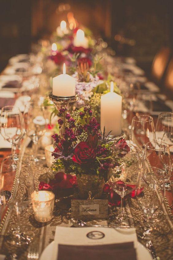 Centros de mesa para fiesta de xv años tematica navideña