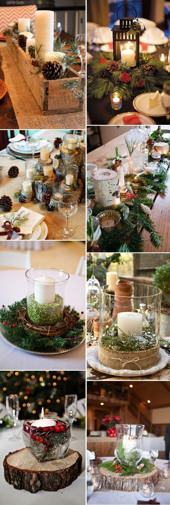 Decoración de una fiesta de xv años tematica navideña