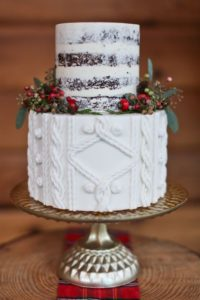 Diseños de pasteles para fiesta de xv años navideña