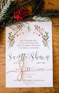 Invitaciones para fiesta de xv años navideña