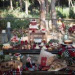 Mesas de postres para xv años temáticos navideños