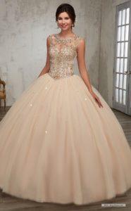 Joyería para vestidos de quinceañera escote redondo