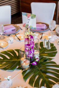 Centros de mesa quinceañera hawaiana