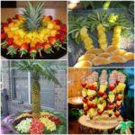 mesa de postres para XV hawaiano