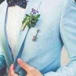 trajes para chambelanes color azul