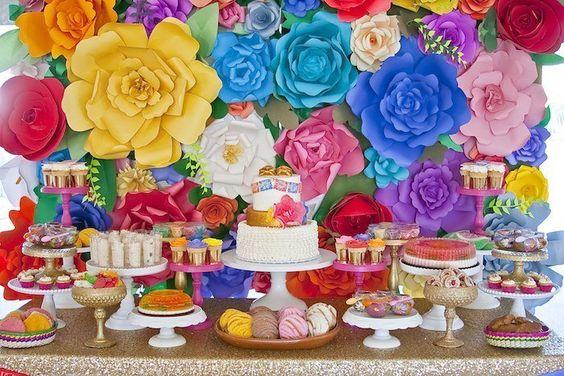Mesa de dulces de XV años estilo charro