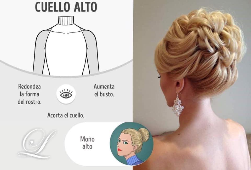 peinados para vestidos cuello alto