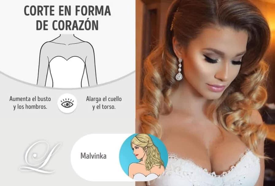 Largos De Forma Peinados Para Vestidos Corazon Y En