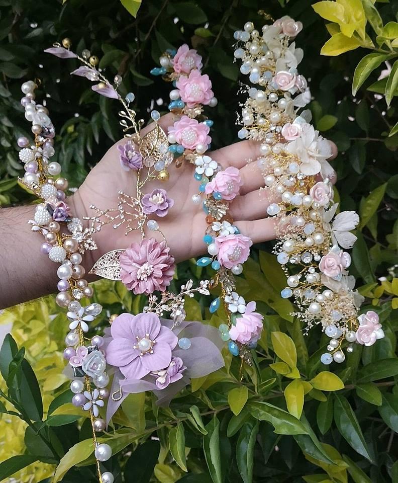 tocados para 15 años con flores
