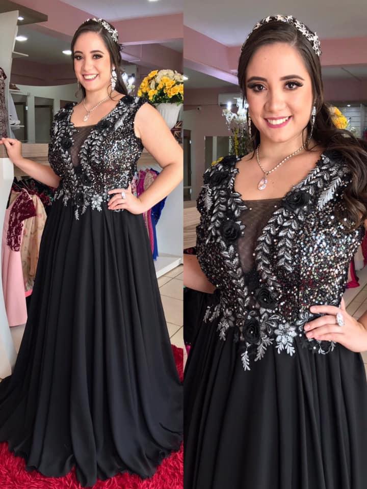vestidos para chicas con curva en color negro