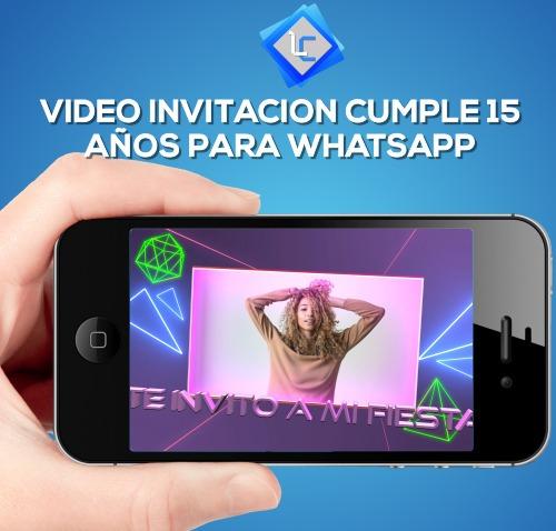 Video invitaciones una tendencia para las fiestas de 15 años