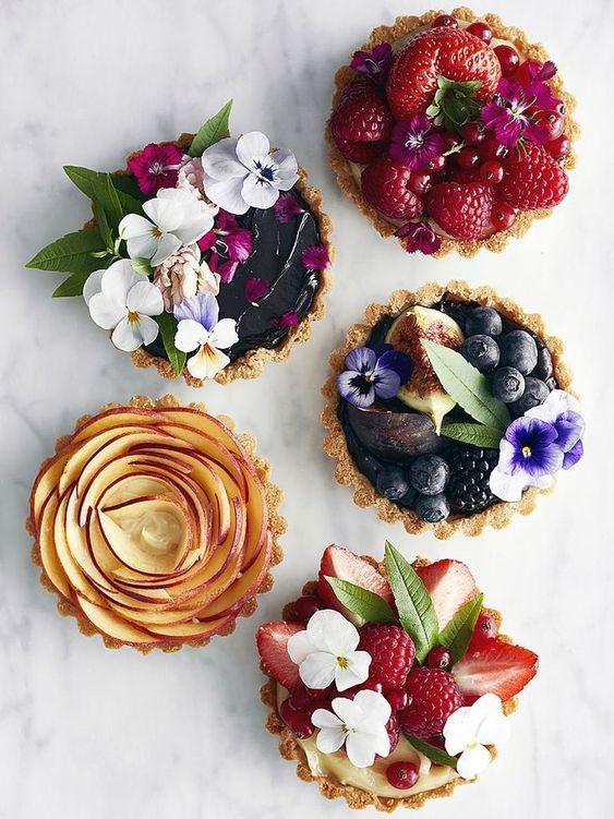 postres individuales para la mesa de dulces
