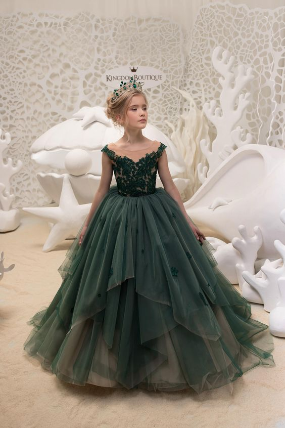 Vestidos de niña de 12 años para boda estilo princesa
