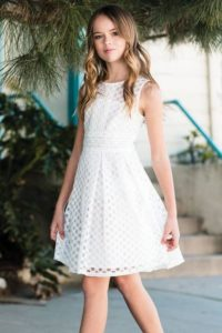 Vestidos para niña de 12 años elegantes cortos