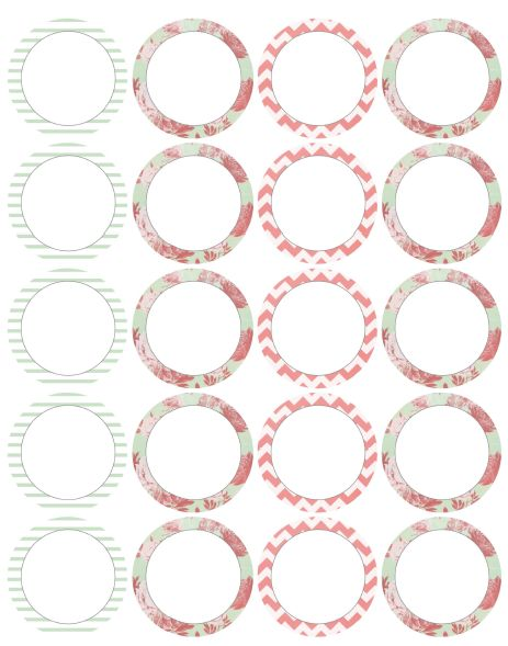 etiquetas para recuerdos gratis para imprimir circulares
