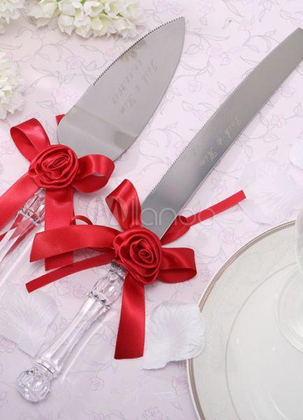 Cuchillos de quinceañera rojo