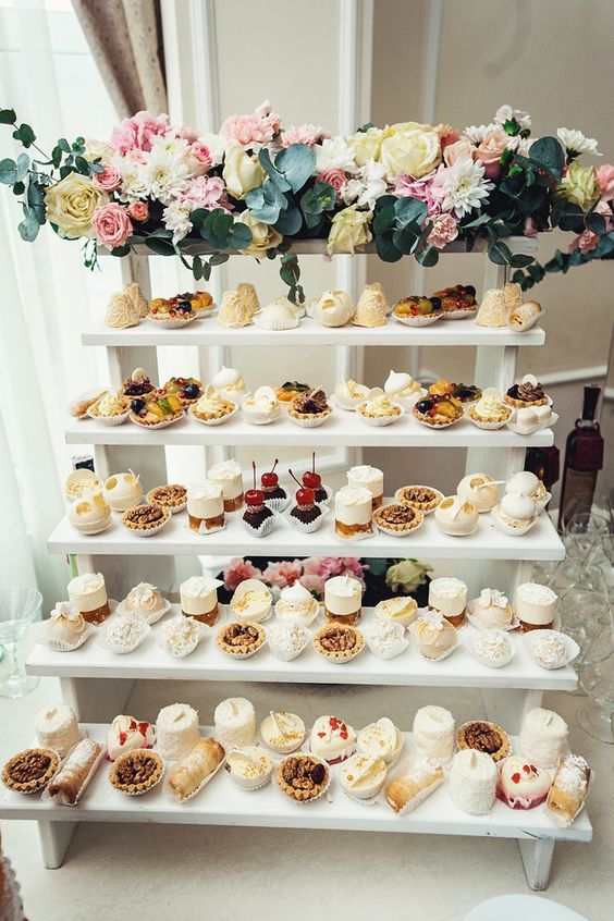 Mesa de dulces para XV años con verticales