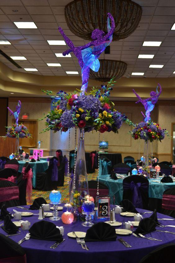 centros de mesa para fiesta de xv con tema bailarina