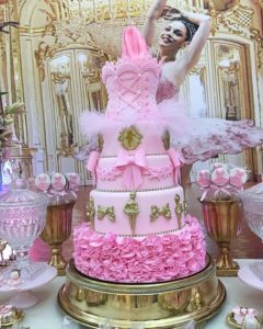 pasteles de xv años tematica bailarina ballet