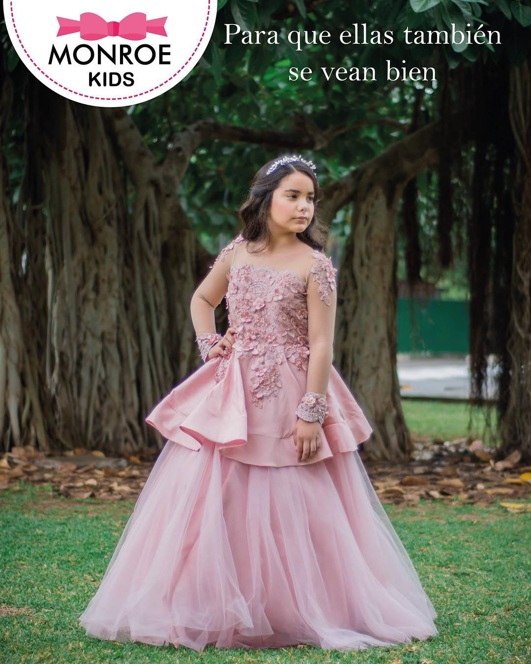 vestido de gala para niña para xv años con holanes