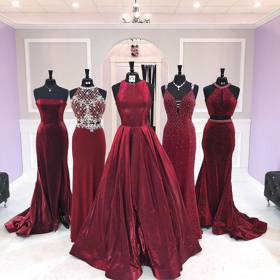 vestido rojo de quinceañera - madrinas en color rojo