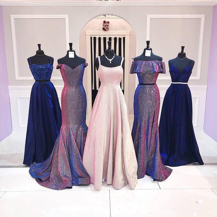 vestido rosa gold - madrinas en color violeta