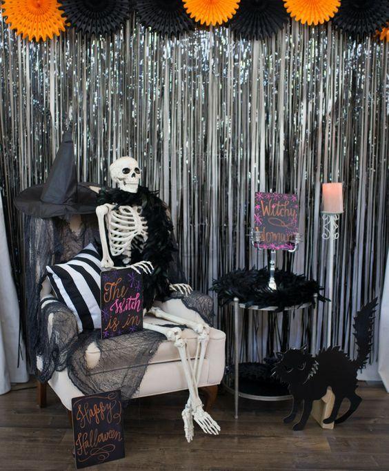 backdrops para fiesta de quinceañera de halloween
