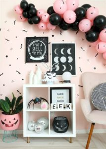 decoracion con globos para 15 años halloween
