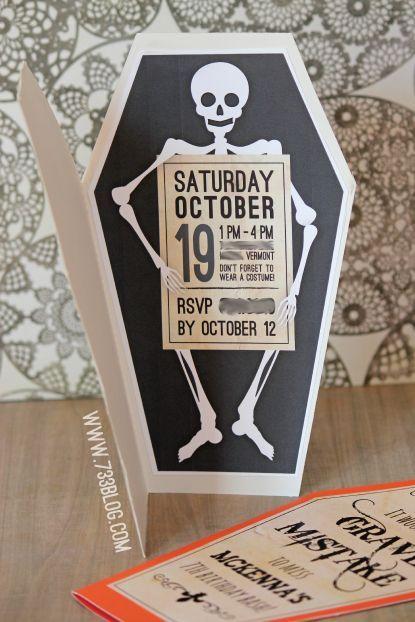 invitaciones para 15 años de halloween