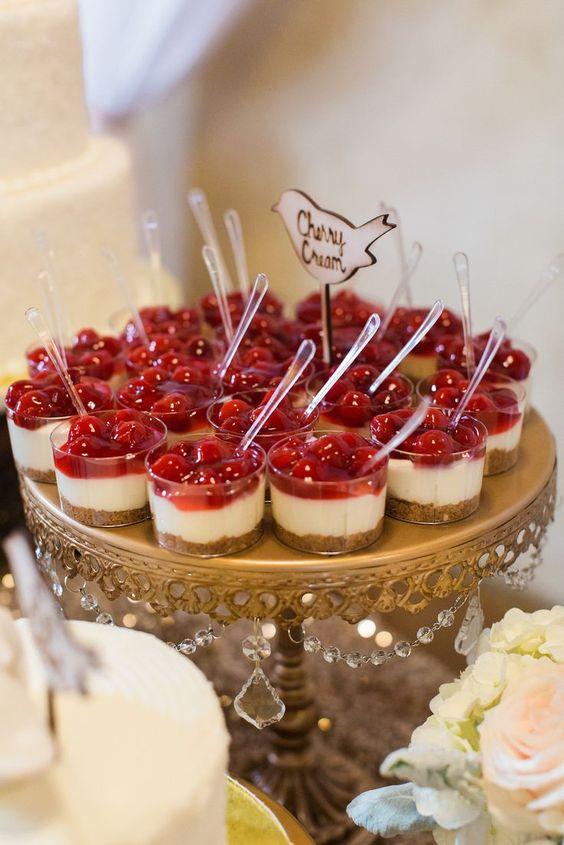 postres en vasos para bodas