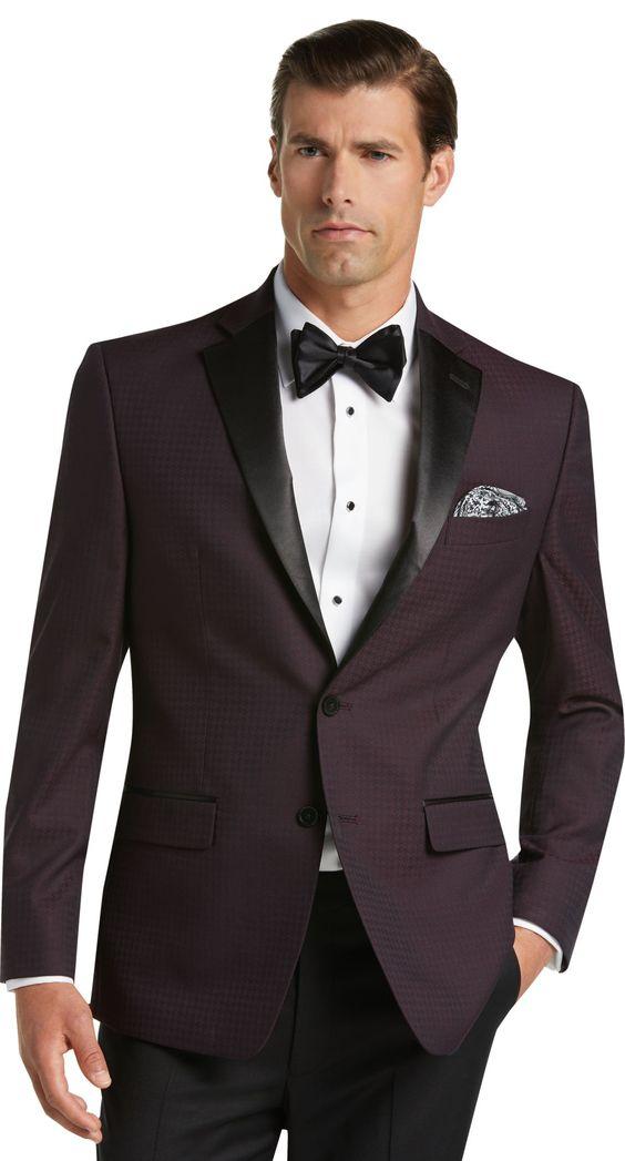 traje recto de dos botones para caballeros