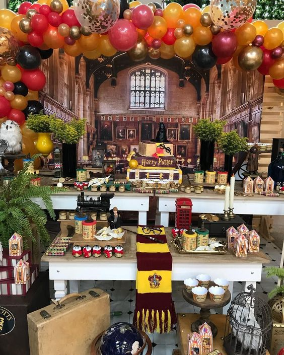 decoracion moderna para xv años tema harry potter