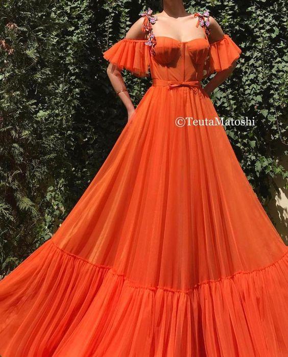 fiesta de 15 años en color naranja para otoño