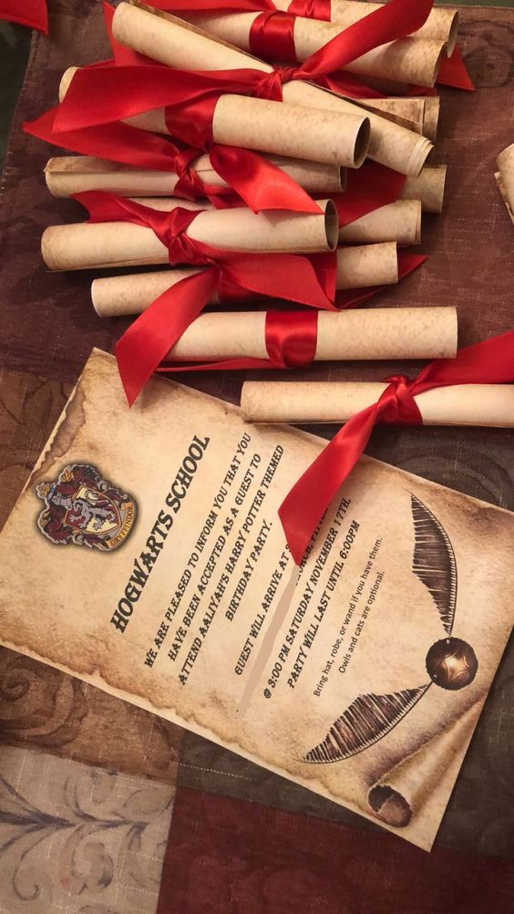 invitaciones para 15 años tema harry potter