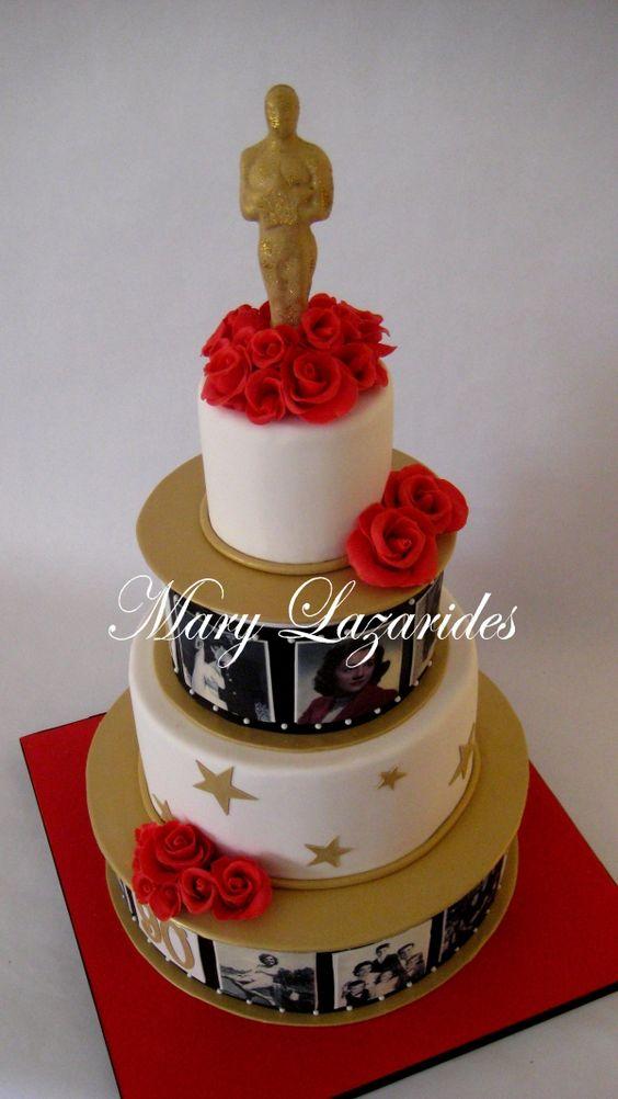 pastel para fiesta de 15 tematicos de los oscar