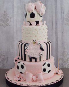 pastel para fiesta de 15 tematicos futbol