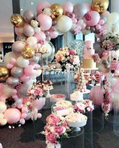 quinceañera en rosa gold para otoño