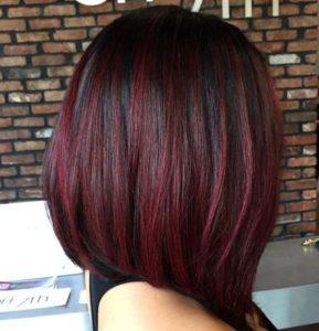 Ideas de como llevar el color cherry wine si usas el corte bob