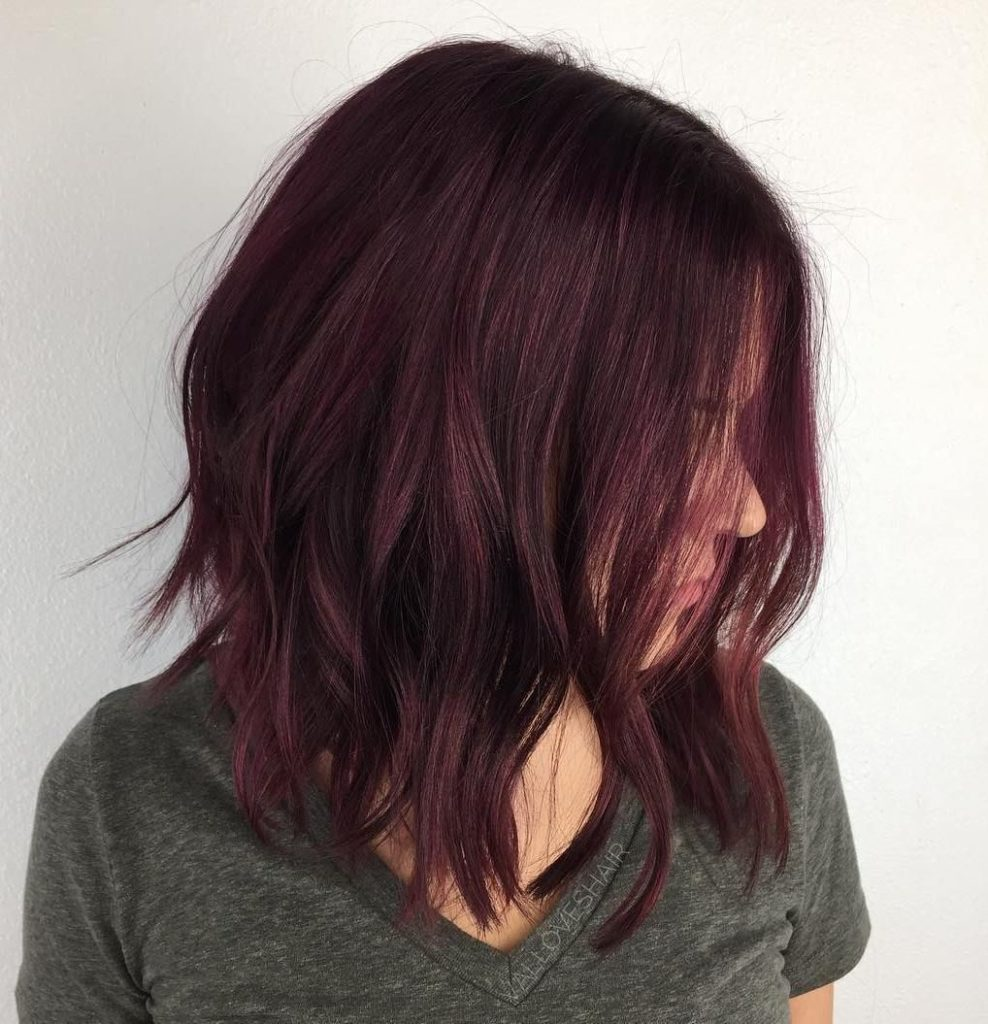 Ideas de como llevar el color cherry wine si usas el corte long bob