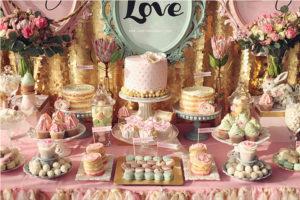 Imágenes de mesa de dulces para xv años con galletas
