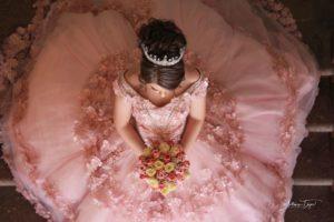 Vestidos para xv años tono rosa blush - rosa milenial