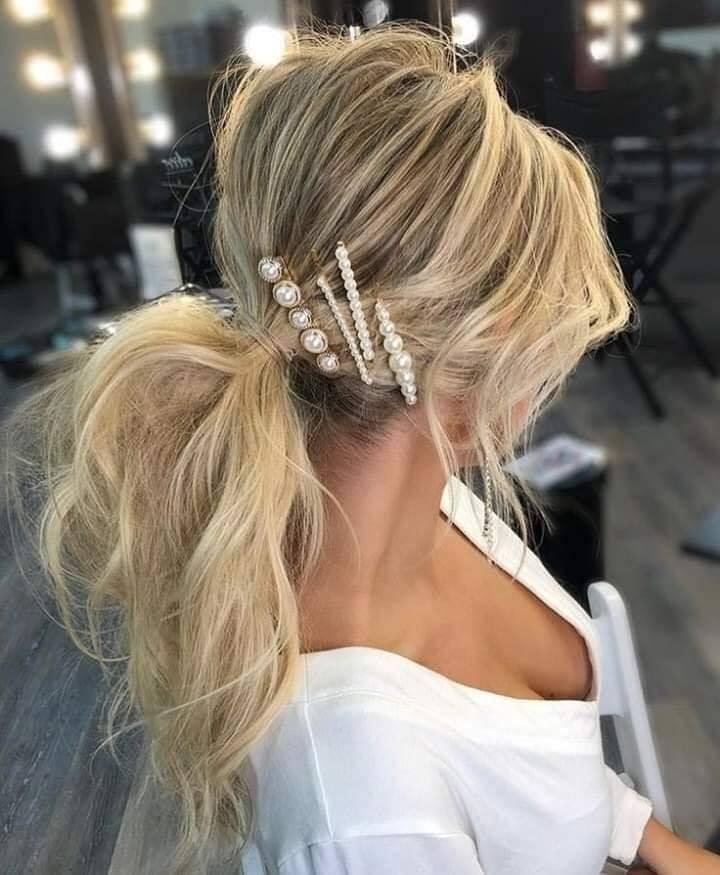 Accesorios de temporada para quinceañera broches con perlas
