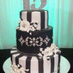 Pasteles para 15 años blanco y negro