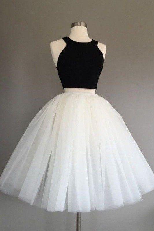 Vestidos para 15 años blanco y negro