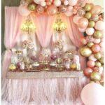 Como decorar la mesa del pastel con globos