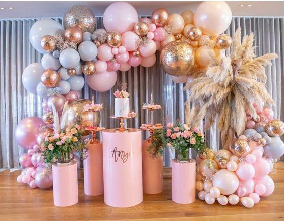 Decoraciones con globos para 15 años modernos