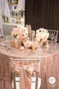 Centros de mesa para quince años con arreglos florales
