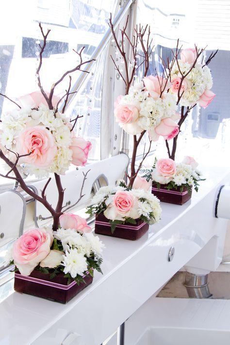 Arreglos florales para 15 años sencillos